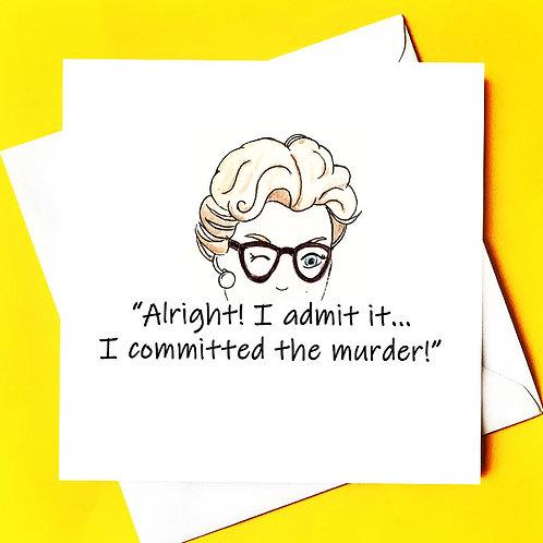 Murder She Wrote Note Card