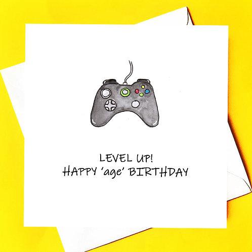 Game Control Birthday Card