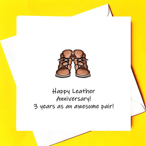 3rd YEAR ANNIVERSARY (LEATHER)