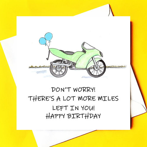 Miles Left in You (Motorbike Birthday Card)