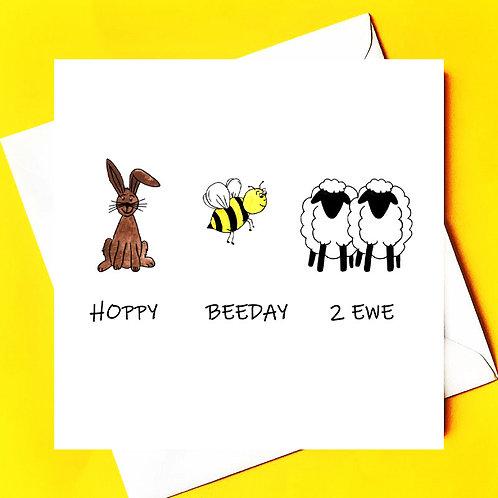 Hoppy Beeday 2 Ewe