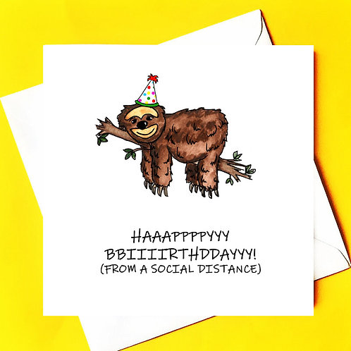 Happy Birthday Sloth Style!