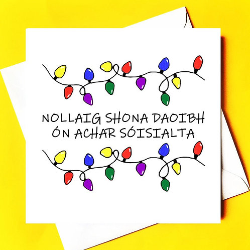 Happy Christmas from a social distance  (Irish)