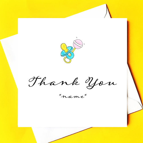 Thank you midwife card