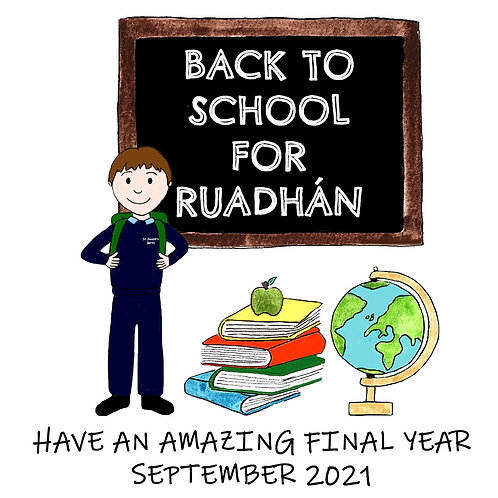 Back to School *Good Luck personalised card*