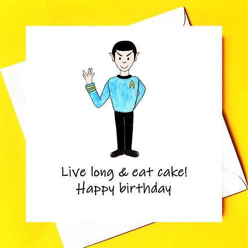 Spock Birthday Card