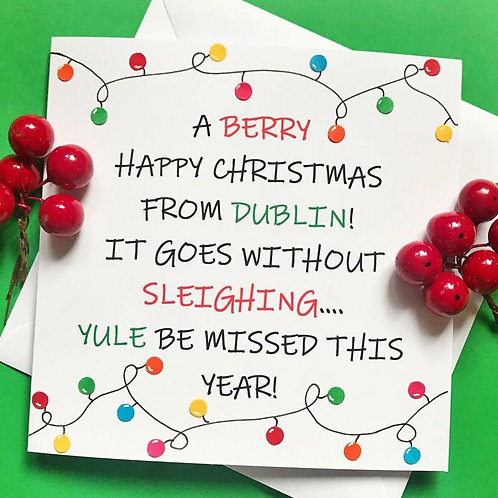 A BERRY HAPPY CHRISTMAS FROM....