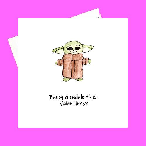 Yoda cuddle
