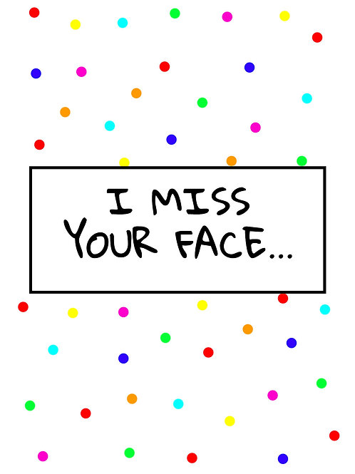 Miss your Face Postcard