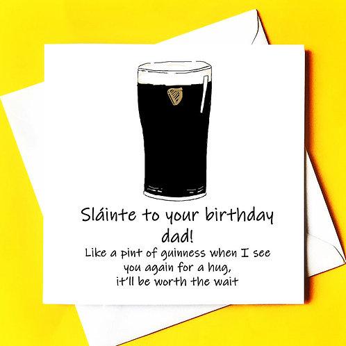 Sláinte to your birthday