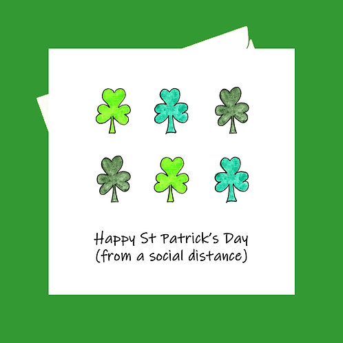 Happy St Patrick's Day (shamrock)