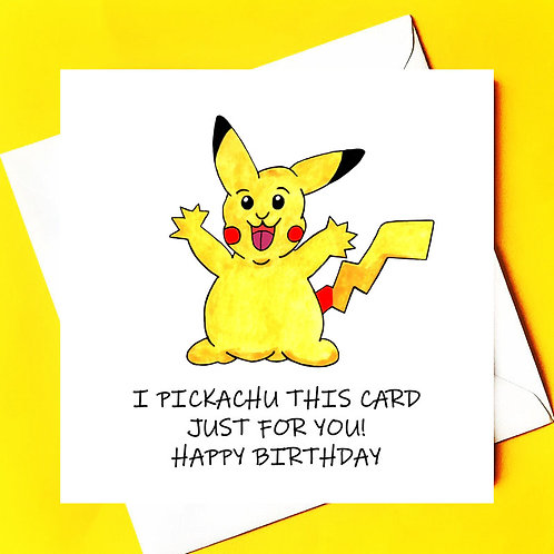PICKACHU THIS CARD JUST FOR YOU!