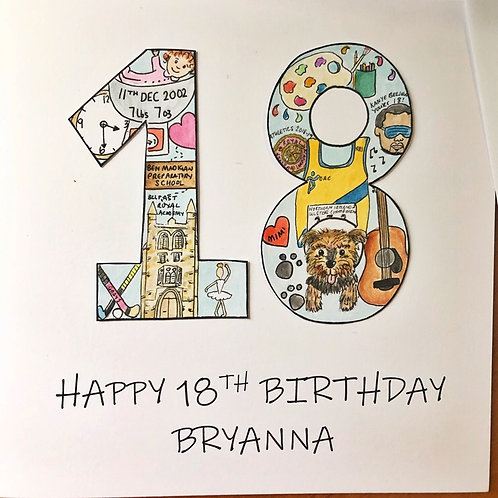 Birthday Age Card