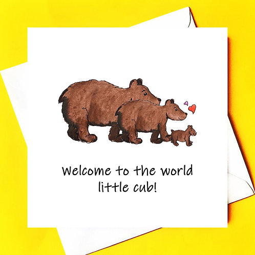 Welcome to the world little cub!