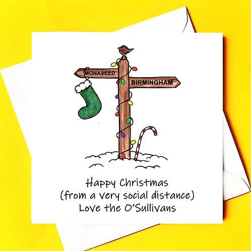 SIGNPOST CHRISTMAS CARD