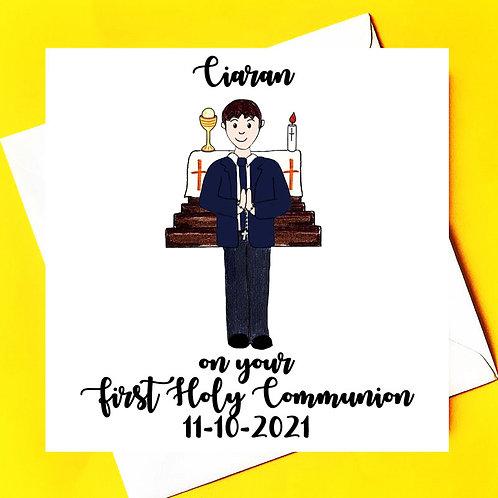 First Holy Communion Card (Boy)