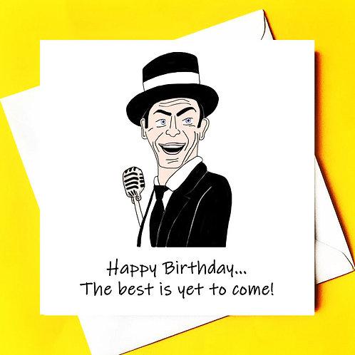 Frank Sinatra Birthday Card