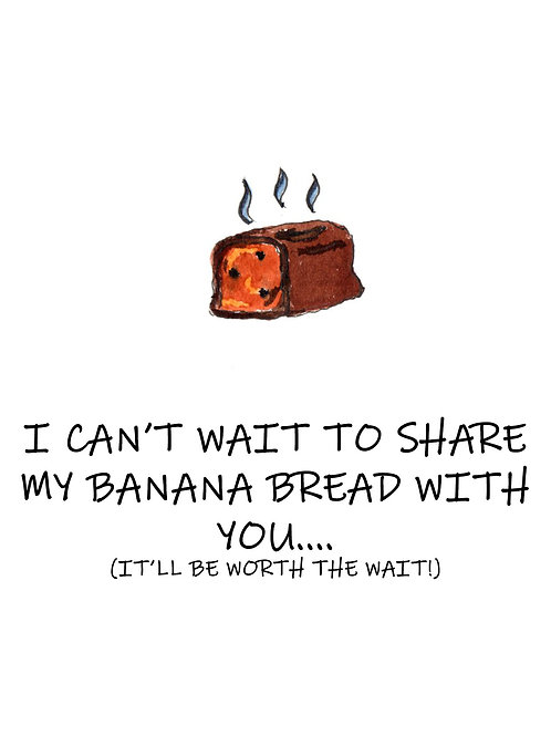 Banana Bread Postcard