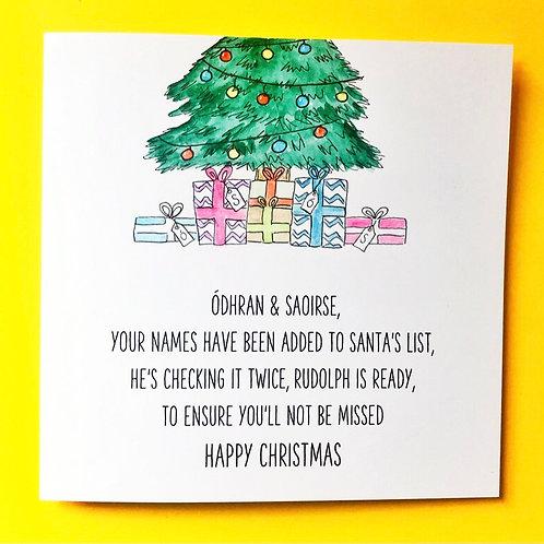 FIRST CHRISTMAS (Santa's List)