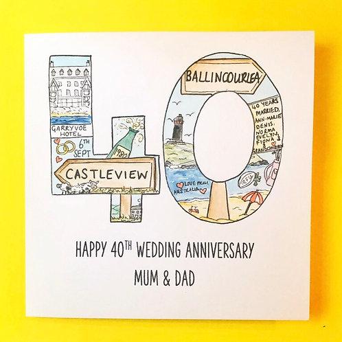 Anniversary Year Card (milestone number of years)