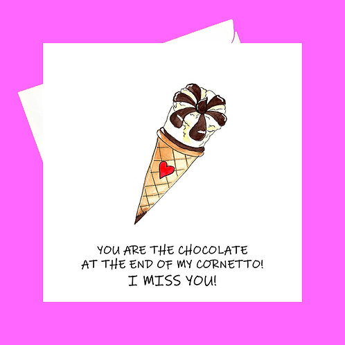Chocolate at the end of my Cornetto (miss you)