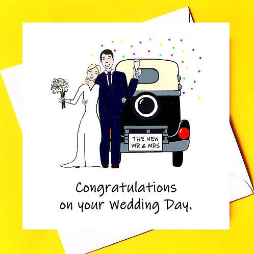 Congratulations on your weddingday.