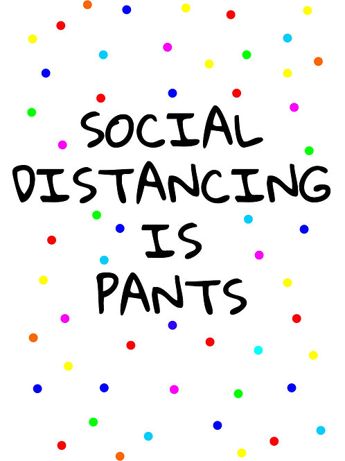 Social Distancing is Pants Postcard