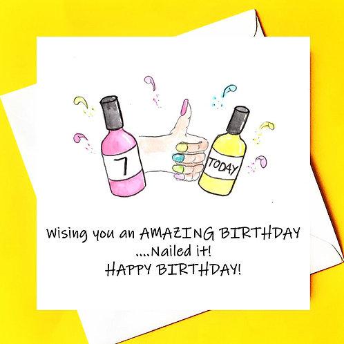 Nailed It ! Birthday Card