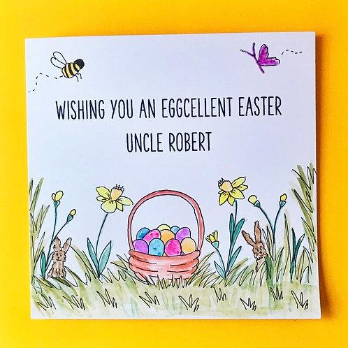 Happy Easter Egg Basket