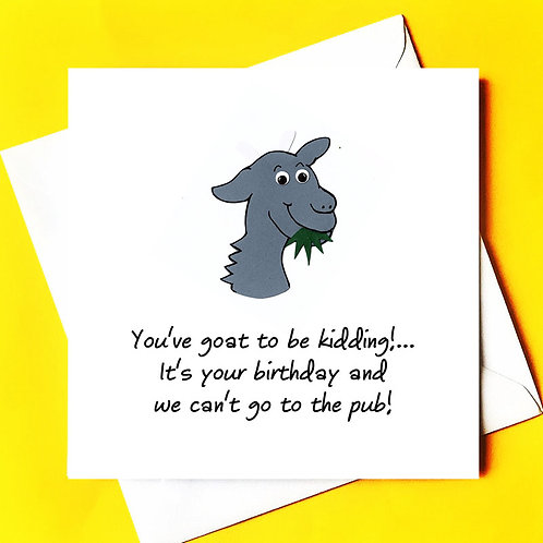Goat Kidding (and no pub)