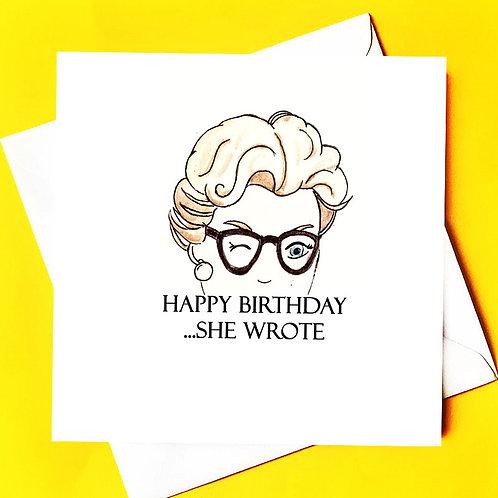 Murder She Wrote Birthday Card