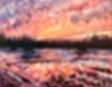 Maple Lake Painting Sunset Studio MN