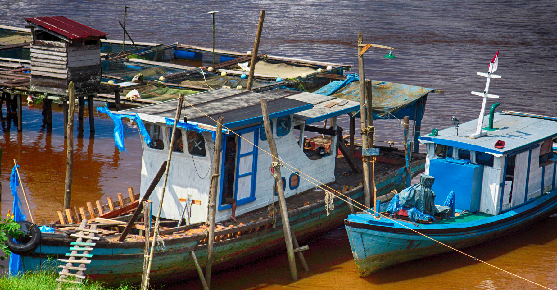 Boats On The Kapuas River