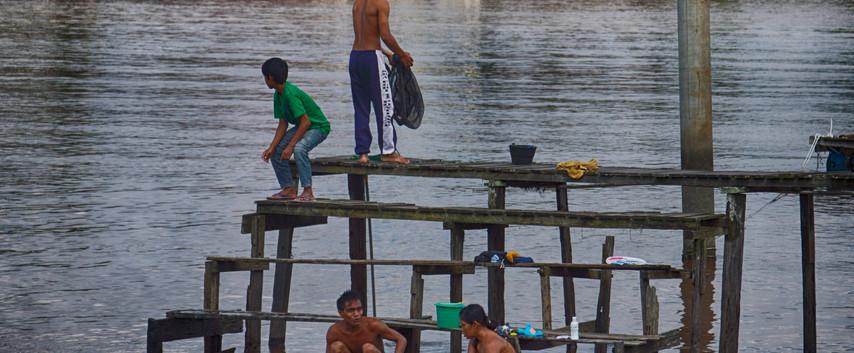 Bath Time On The Kaouas River