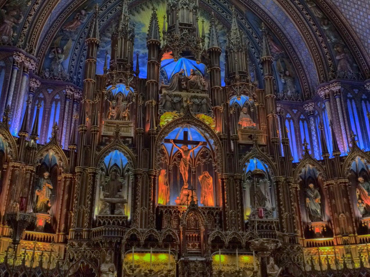 Basilica de Noter Dame, Montreal, Qc.