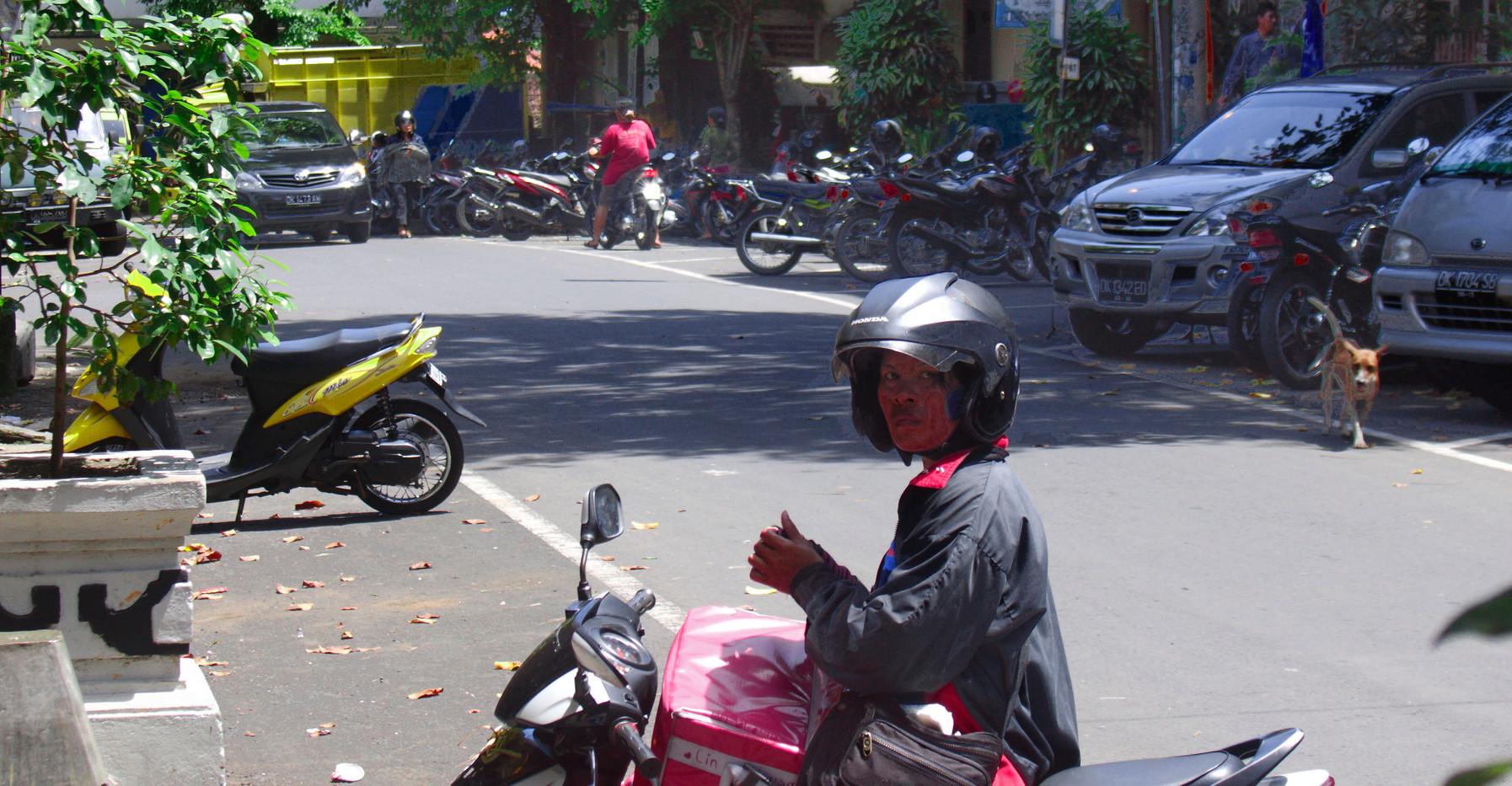 Down A Bali Street