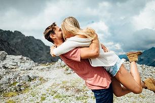 Kissing on a Mountain