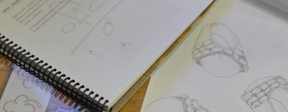 Antes e depois curso de Design de Joias
