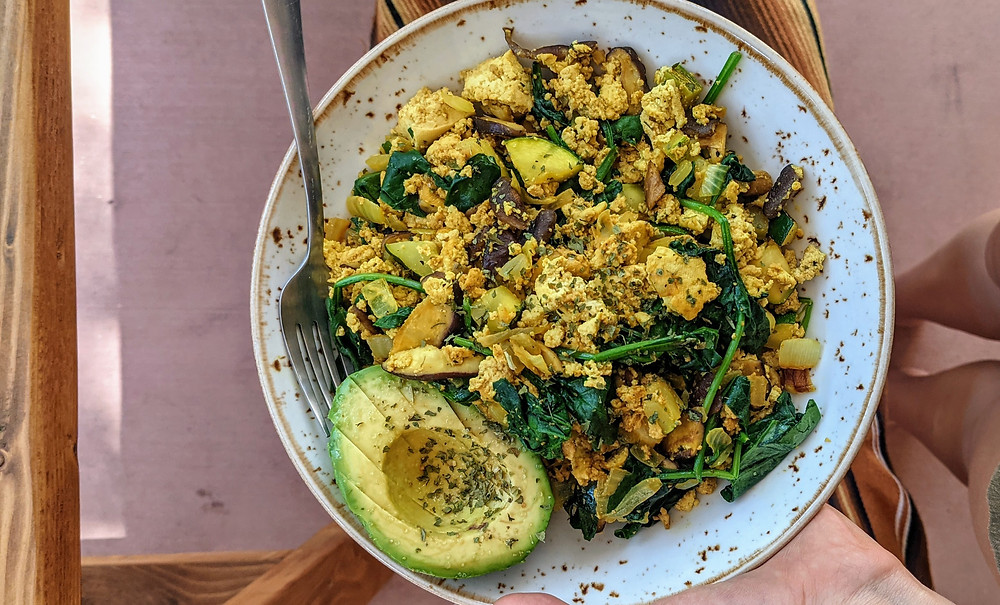 Vegan tofu scramble SIBO low FODMAP