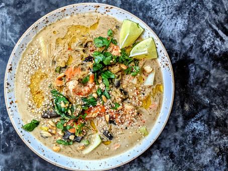 Creamy Paleo Spaghetti Squash Ramen (Vegan, GF, Paleo, Low FODMAP)