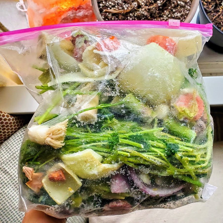 Storing Stock Vegetables in the Freezer