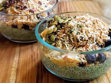 Matcha Chia Seed Pudding (Vegan, GF, Paleo)