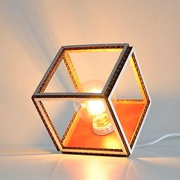 Lampe de table en carton CUBO sans filtr