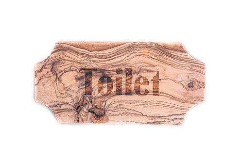 "Cartello ""Toilet"" in Olivo"