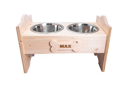 Porta ciotole per cani personalizzato S/M/L