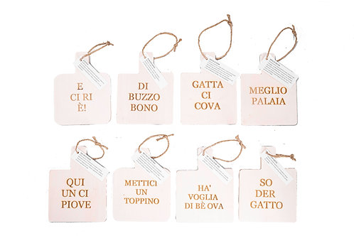 Mini taglieri modi di dire Castagnetani