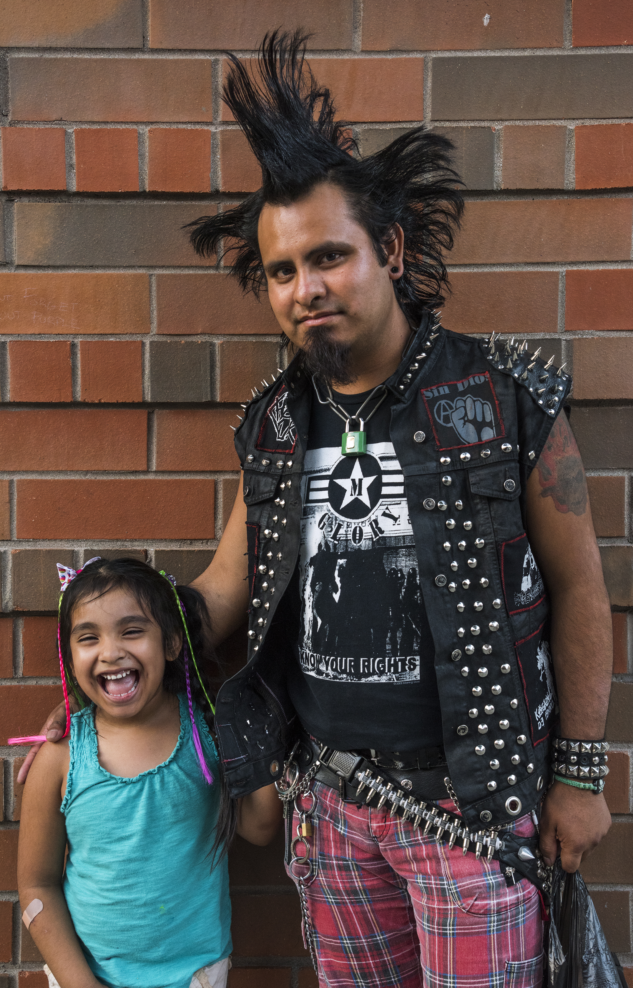 punk guy & daugther