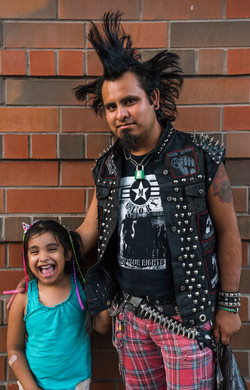 punk guy & daugther