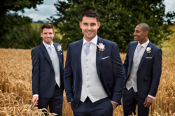 Navy Slim Fit with silver weave waistcoat 2