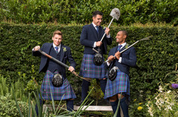 Navy Tweed Highland group